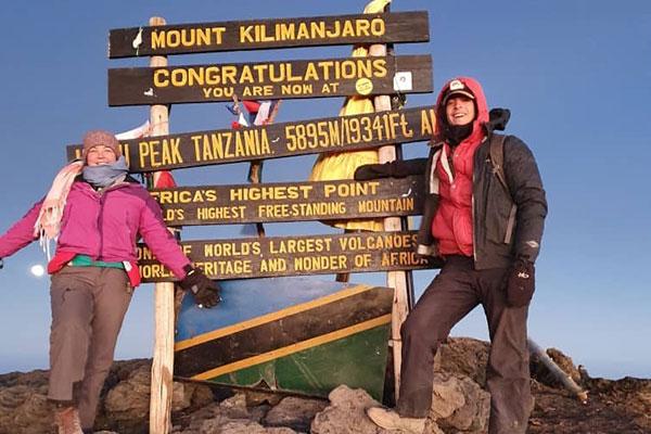 on top of kilimanjaro